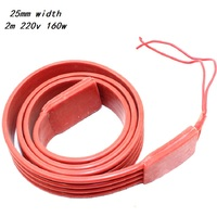 MINCO HEAT 2m 160W 220V High Temperature Resistance  Silicone Rubber Heating Cable Freeze Protection Heating Tape for Heat Trace|tape tape|cable 220v|cable tape -