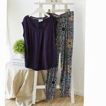 Pajamas for women Lounge modal plus size clothing short-sleeve sleep set maternity clothing