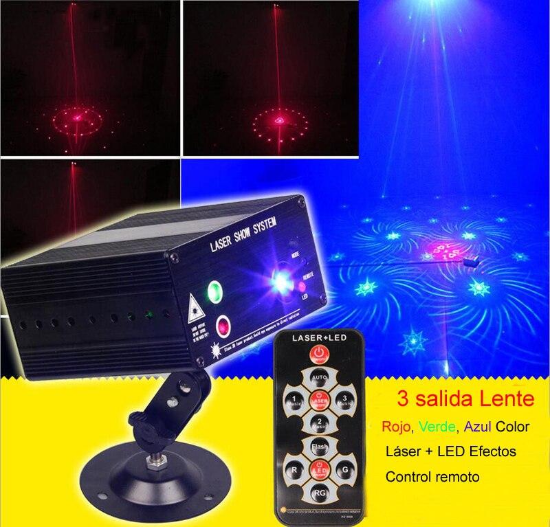 salida nuevo gobos efectos discoteca luz laser rojo verde azul luces lasers iluminacion dj