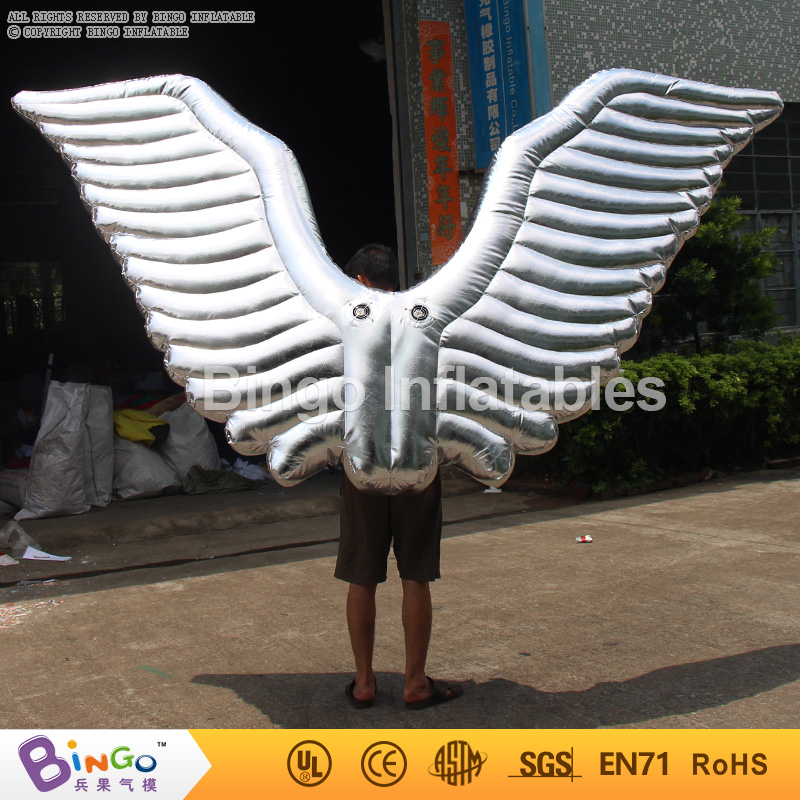 silver inflatable wings for stage 2m or customize flashing toy