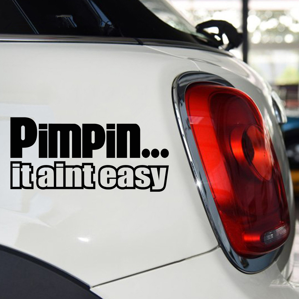For <font><b>Pimpin</b></font> <font><b>Aint</b></font> <font><b>Easy</b></font> Stance Decal Funny Car Vinyl Sticker Window JDM Racing Turbo Decor Decals
