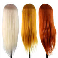 60cm Kappers Poppen Styling Mannequin Lange Haar Praktijk Training Menselijk Hoofd Professionele Salon Hair Styling Hoofd + Klem Set