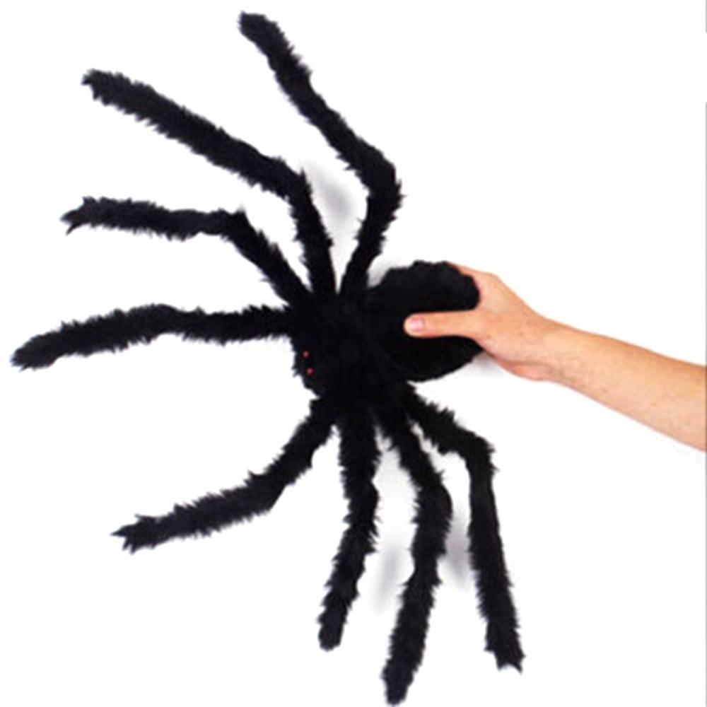Interesting Black 1 Pcs Halloween Plastic Spider Decoration Prop Realistic Toy Joke Creative Spider Props Toys