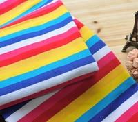 Rainbow Fabric Cloth Lycra Cotton Fabric Four Way Stretch Stripes Sky DIY Apparel Sewing Patchwork Child