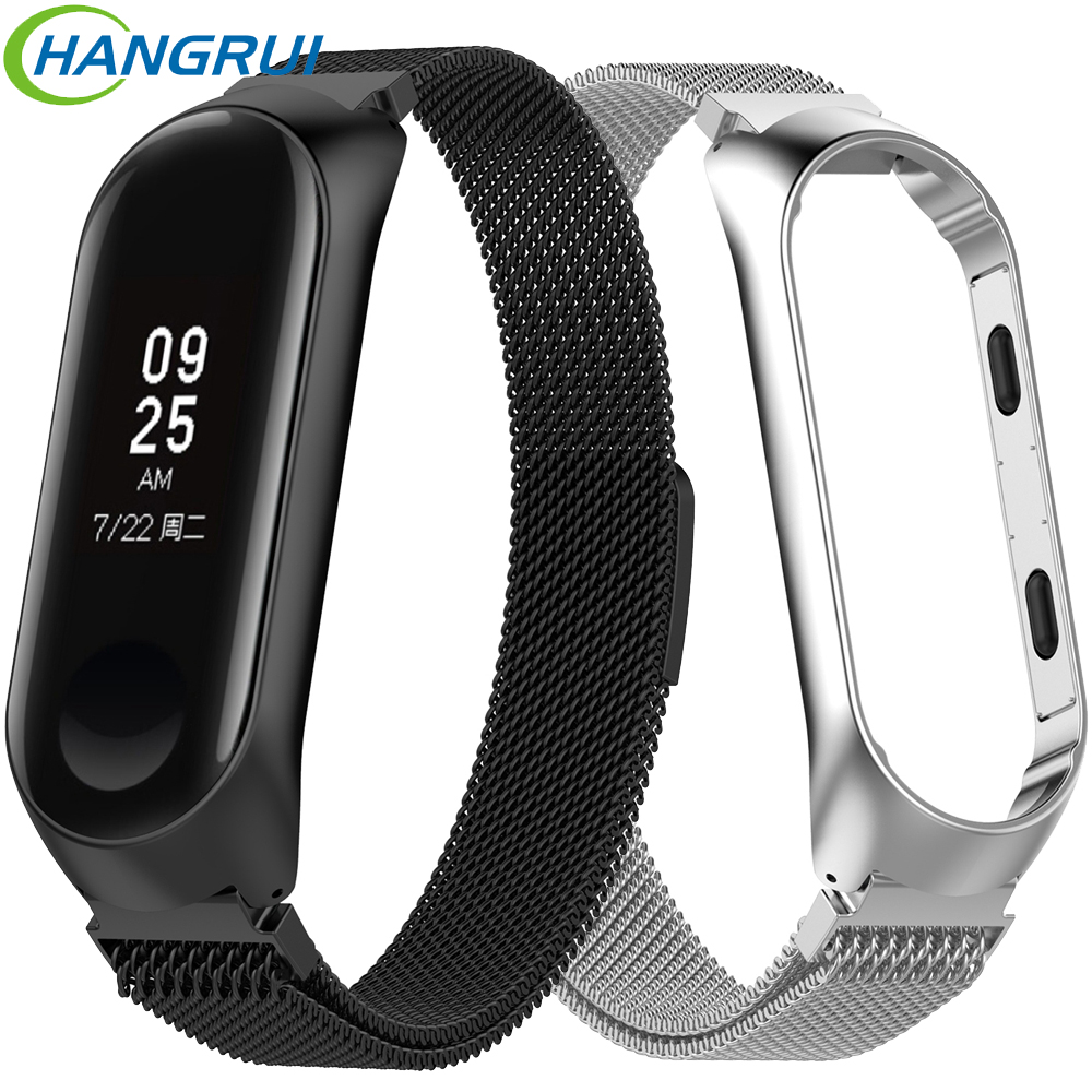 Milanese magnet strap for xiao mi mi band 3 stainless steel watch band for xiaomi wristband replacement metal bracelet miband 3