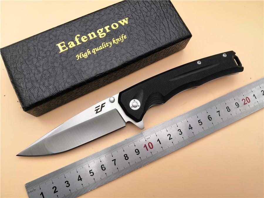 Folding Pocket Knife Eafengrow EF41 D2 blade G10 handle ball bearing flipper folding EDC outdoor camping hunting knife Tools цены