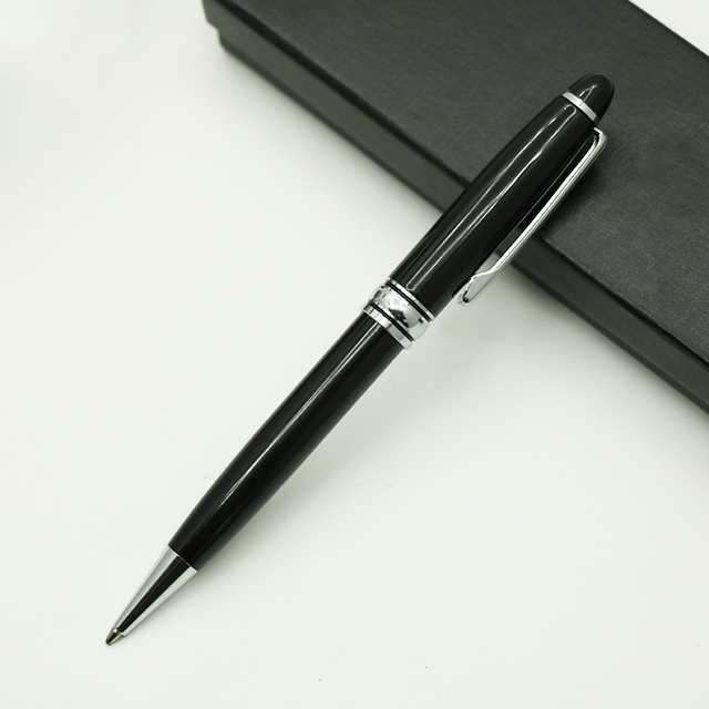 mon  black ballpoint pen  rotating pen blanc 163 pen  Company advertising gift hotel guest house pen heavy metal good writing