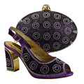 African Shoes With Bags Set To Match Italian Shoe With Matching Bag For Party High Quality Women Shoes Purple Color 89231-8
