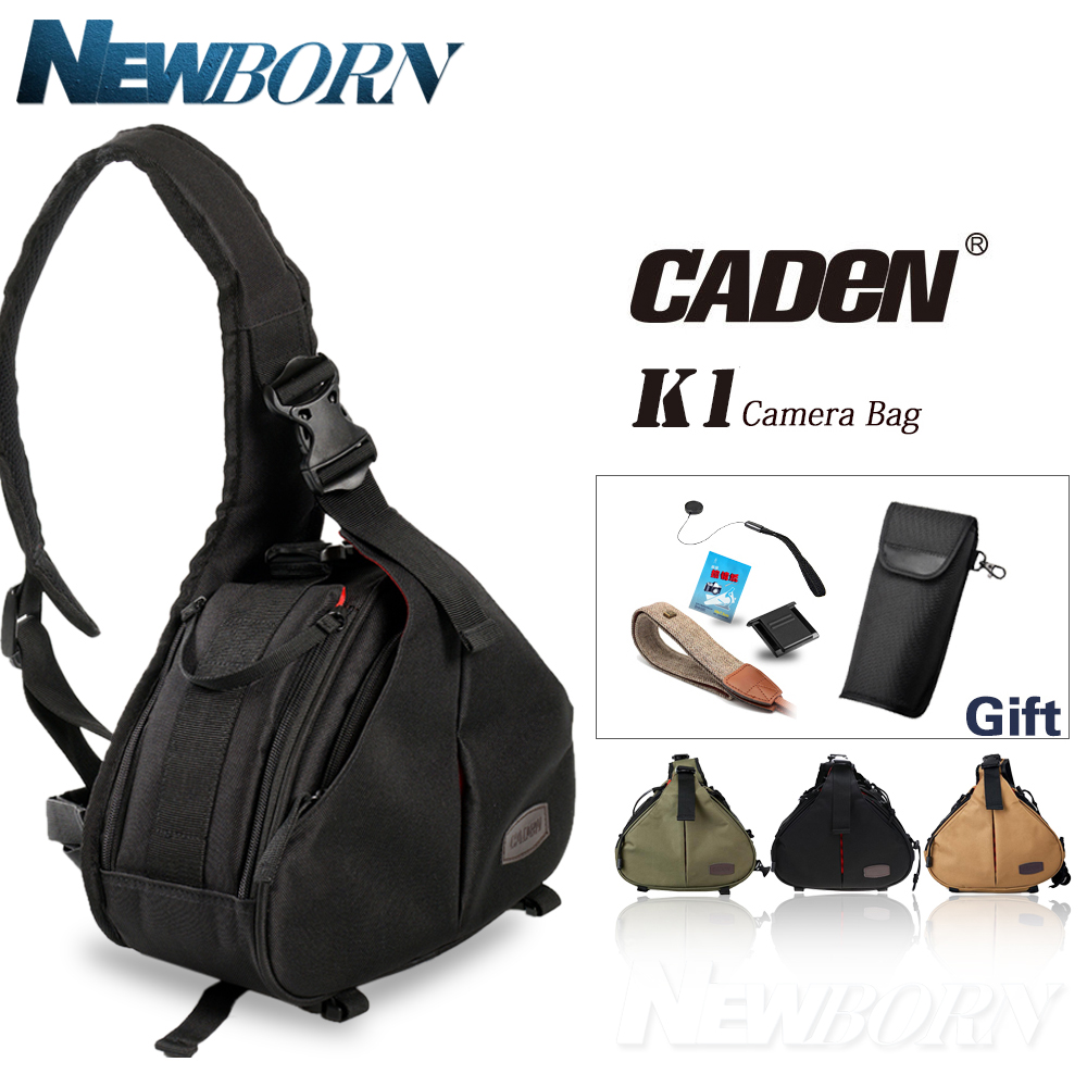Caden K1 DSLR Camera Bag Case Waterproof Fashion Casual Bag With Messenger Shoulder Bag for Canon Nikon Sony DC/DSLR Camera+Gift sepai b702 protective nylon camera one shoulder handheld bag for sony a350 a380 dslr black