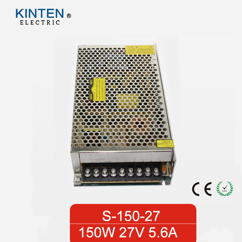 150W 27V 5.6A Single Output Switching power supply for LED Strip light AC to DC single output uninterruptible adjustable 24v 150w switching power supply unit 110v 240vac to dc smps for led strip light cnc