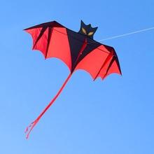 цена на free shipping bat kite flying line ripstop nylon fabric outdoor toys kites for adults aquilone reel bag parafoil bird kiteboard