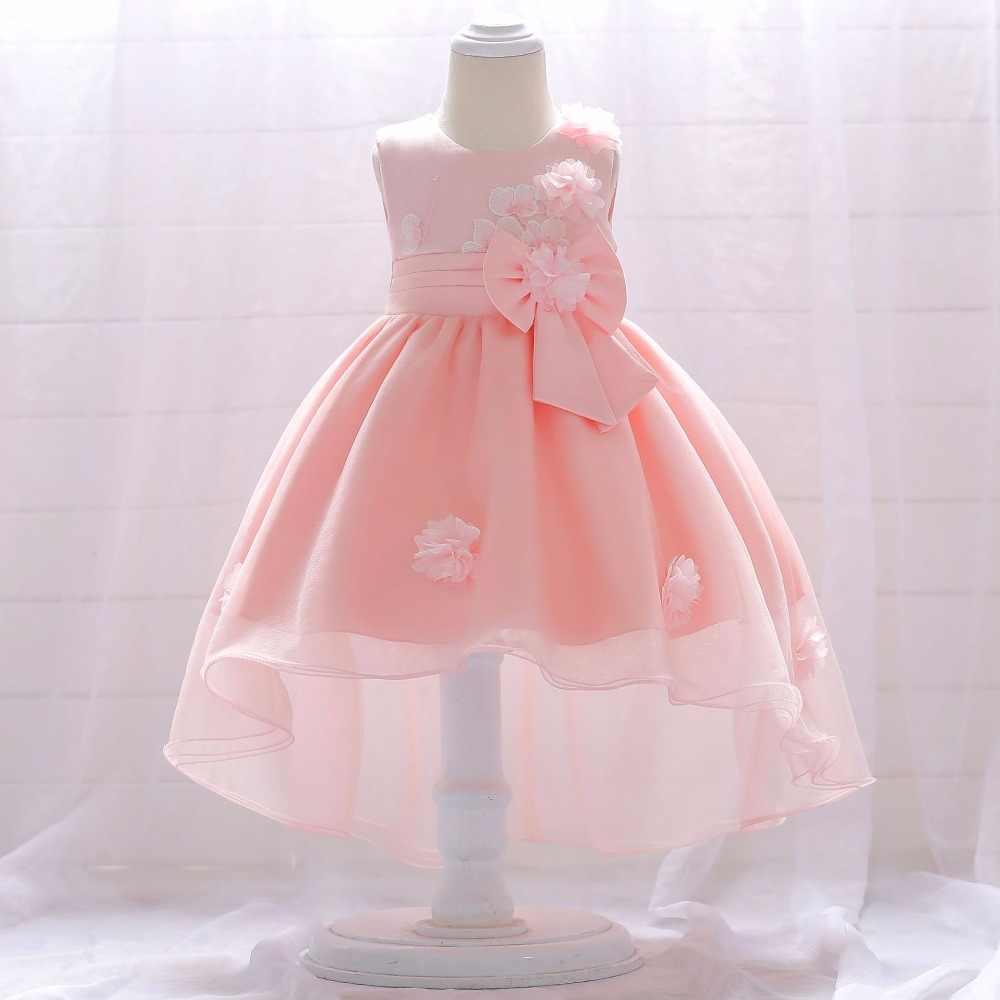 Flor largo niña princesa vestido de boda 0-2 años cumpleaños trajes niñas  vestidos de addd0129d3d4