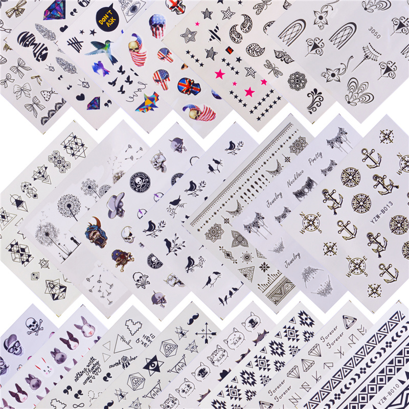 FWC 22 Designs Available Pirate/Halloween Water Transfer Nail Art Sticker Decal Slider Manicure Wraps Tool Tips