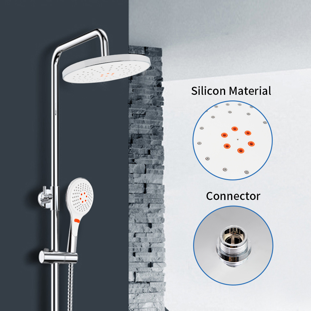 Waterfall G1 2 Connector Round ABS Overhead Shower Head Ceiling Mounted Top Shower Head Sprayer For Shower Cabin in Shower Heads from Home Improvement