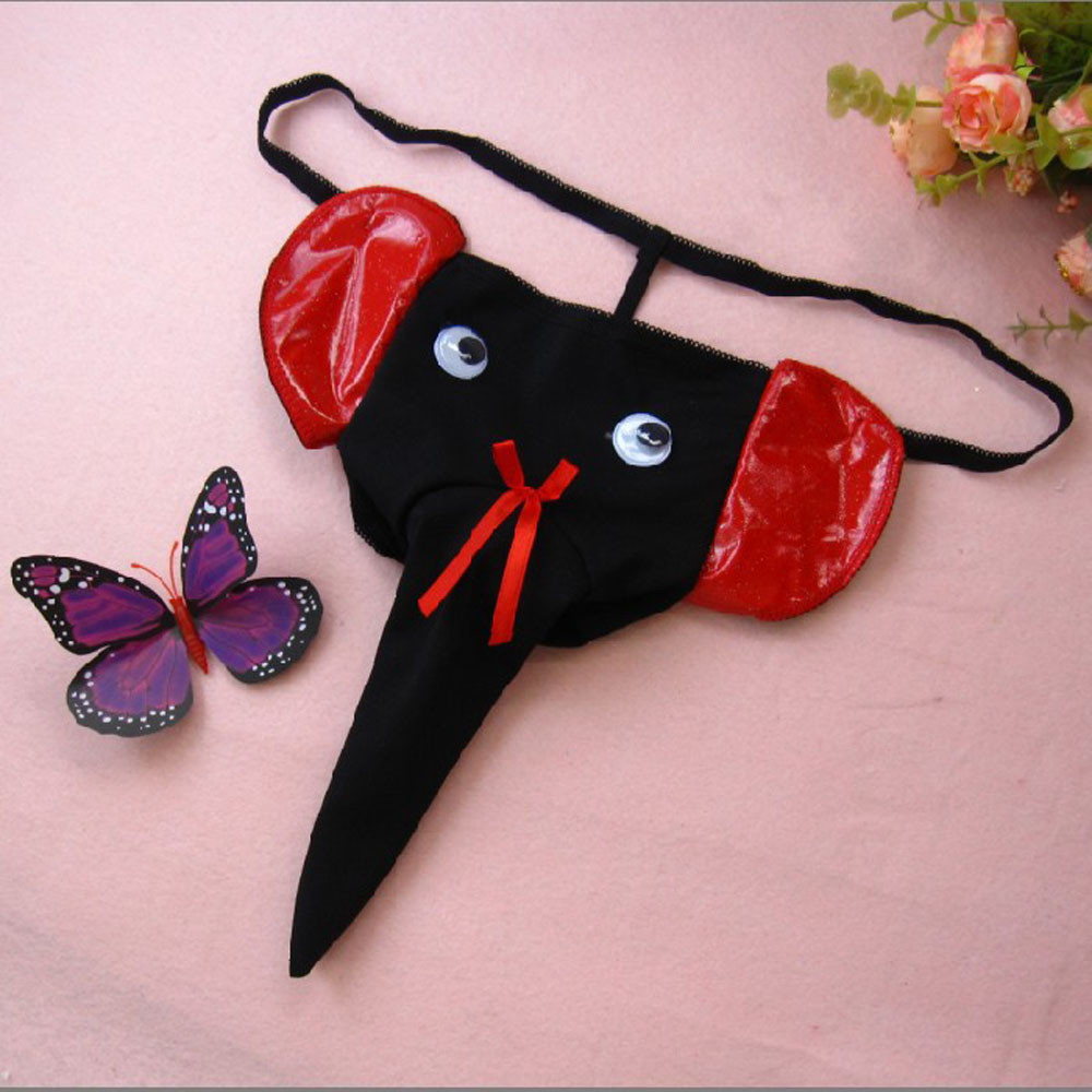 Buy Elephant Bulge Pouch Mens Elastic T Back Lingerie Thong Erotic Underwear Men #15