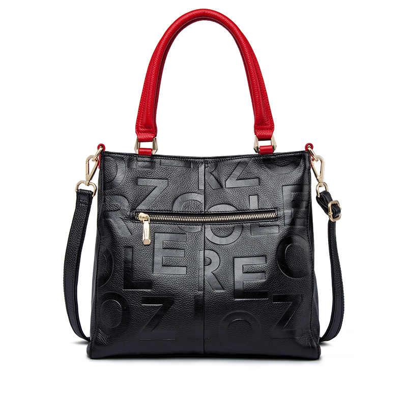 e2eb366e8e ... Hot ZOOLER 2018 Winter NEW luxury handbags women bags designer genuine  leather bag Cow Leather Handbag ...