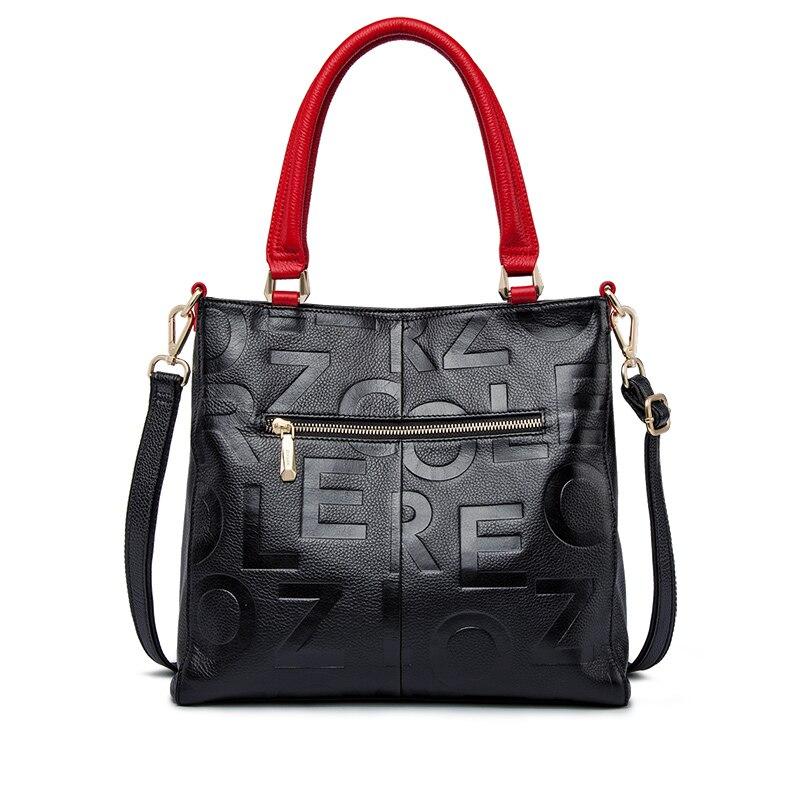 ZOOLER 2019 luksusowe torebki damskie torby projektant torba ze skóry naturalnej kobiety skóra bydlęca torebka wysokiej jakości Mochila Feminina w Torby z uchwytem od Bagaże i torby na  Grupa 2