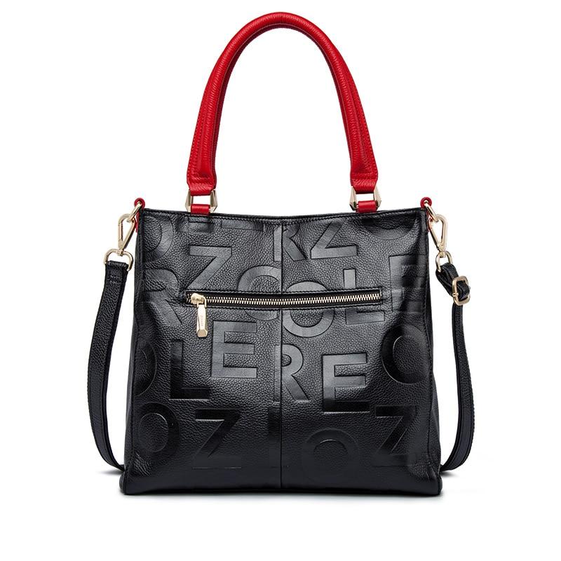 ZOOLER 2019 sacs à main de luxe femme sacs Designer sac en cuir véritable femmes sac à main en cuir de vache de haute qualité Mochila Feminina-in Sacs à poignées supérieures from Baggages et sacs    2