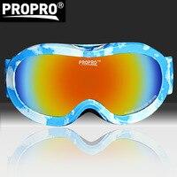 PROPRO kinderen ski bril dubbele schokbestendig lenzen kleurrijke outdoor coating ademend sneeuw eyewear