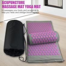 Massager Cushions Massage Yoga Mat Acupressure Relieve Stress Back Body Pain Spike Mats with Pillow