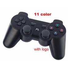 Dualshock джойстики sixaxis контроллеры цветов) геймпад логотип бренда bluetooth игры беспроводной