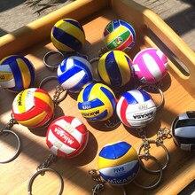 b31dfaee7 Mini llavero de voleibol de PVC llavero deportivo de regalo de bola de  coche llavero anillo para equipo deportivo para hombres m.