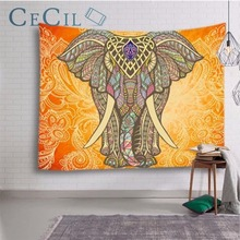 Southeast Asian Elephant Tapestry Wall Hanging Interior Bedroom Curtain Painting Art Background Decoration Cloth