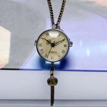 Antique Vintage Big Glass Ball Bull Eye Necklace Quartz Pocket Watch Gift P10 Free Shipping bull s eye