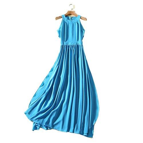 Robe Luxe Haut Shown Femmes Soirée Split Bleu Robes Plissé Ventre Halter De Angelababy Longue Designer Maxi Coupe As Sexy Taille Y8gwxnq