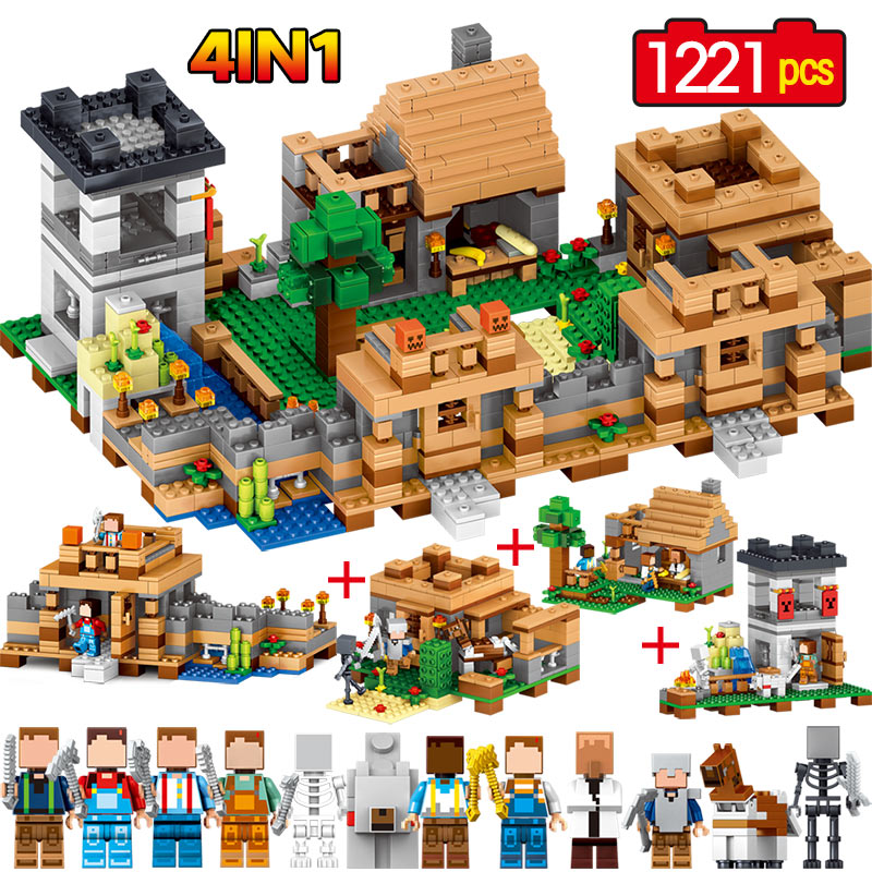 My World Model building kits compatible with LegoINGLYS Minecrafter Toys MineCraft Village 3D bricks toys hobbies for children lele my world power morse train building blocks kits classic educational children toys compatible legoinglys minecrafter 541 pcs