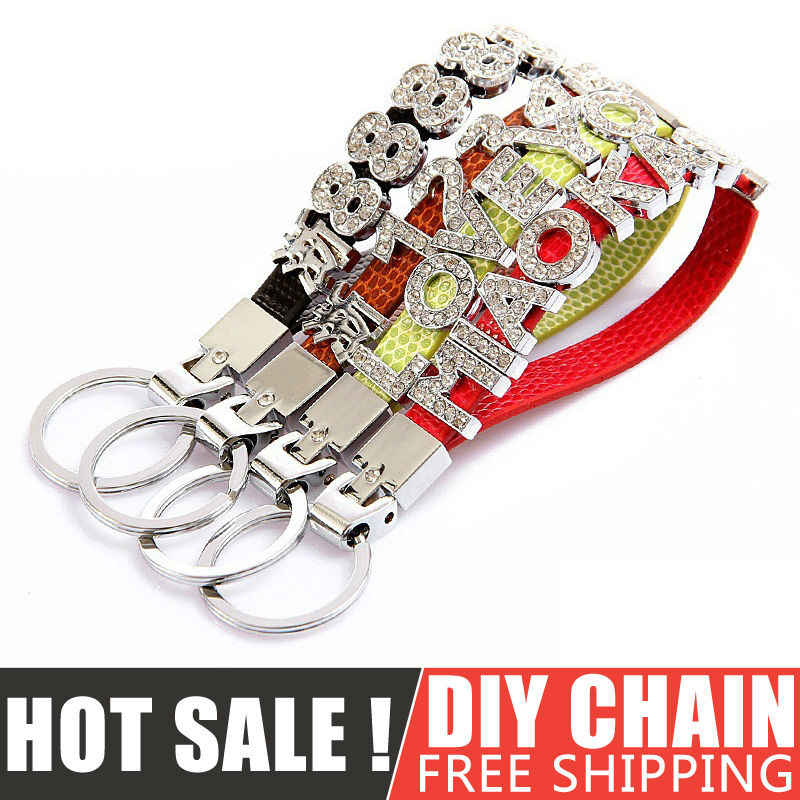 1pcs Fashion Metal Leather Auto Car Keyring Rs Standard Keychain Key Rings For Audi A4 A5