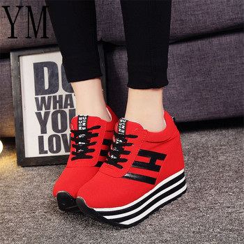 2018 Hot Ladies Shoes With Heels Red Woman Shoes Platforms High heels Ladies Shoes With Heels Lace-UP Floral Print Size 35-39 1