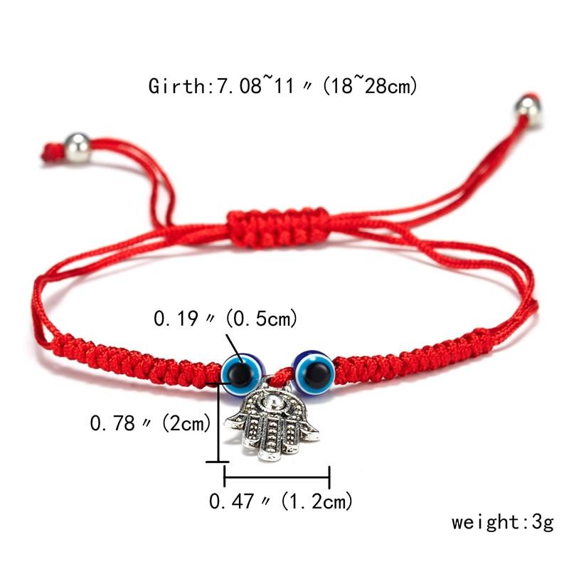 9 стилей плетеная красная нить на удачу Хамса браслет с подвесками на руку синий бисер, от сглаза браслет мода дружбы ювелирные изделия для женщин мужчин - Окраска металла: owl