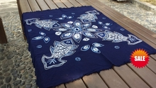 Shibori Tie dye Arts Gorgeous adornment / Handmade Miura lucky gold fish and Flower Table Cloth Many Uses Mats pads Cover