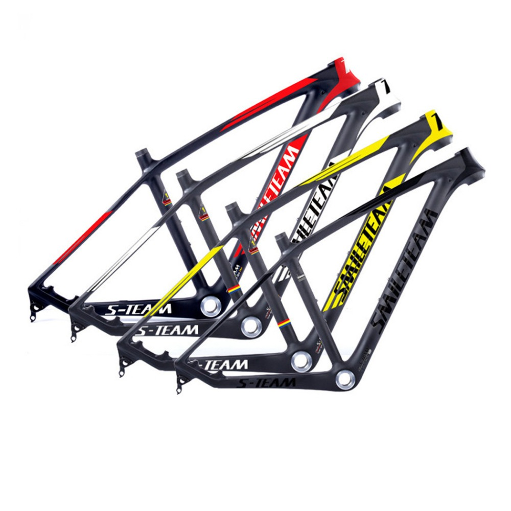 Smileteam New Carbon MTB Frame 29er Mountain Bicycle Frame 142*12mm Thru AXle and 135*9mm QR Compatible Carbon MTB Bike Frame smileteam 29er 27 5er carbon mtb frame 650b t1000 full carbon mountain bike frame 142 12 thru axle or 135 9mm qr bicycle frame