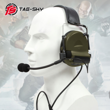 TAC-SKY COMTAC II silicone earmuffs outdoor tactical hearing defense noise reduction pickup military headphones FG