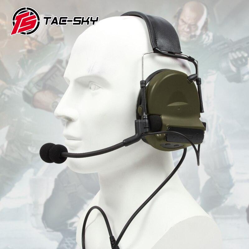 TAC SKY COMTAC II silikonowe nauszniki na zewnątrz taktyczne słuchu obrońców i staje w sytuacji sam redukcji szumów odbioru wojskowy słuchawki FG w Części i akcesoria do krótkofalówek od Telefony komórkowe i telekomunikacja na AliExpress - 11.11_Double 11Singles' Day 1