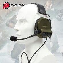 TAC SKY comtac ii silicone earmuffs ao ar livre tático defesa auditiva redução de ruído captador militar fones de ouvido fg