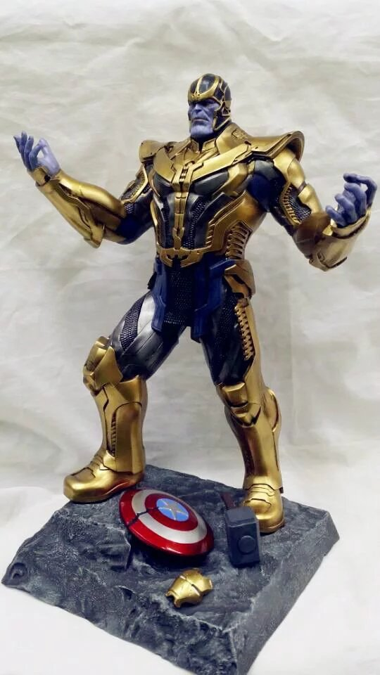 free EMS 34cm Thanos Guardians of the Galaxy iron man captain america lord harley aliens PVC action Figure collectible model Toy marvel avengers chess captain america pvc action figure collectible model toy 15cm hrfg462