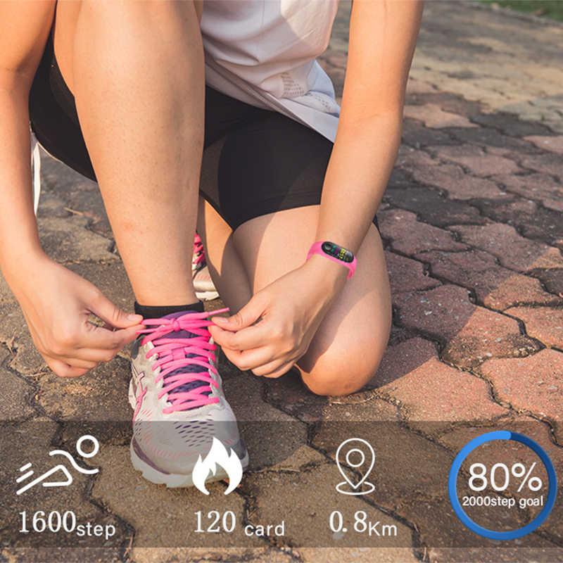 Ini 2019 Baru Sport Smart Watch Women Smart Gelang Heart Rate Tekanan Darah Monitor Kebugaran Tracker Pedometer Smart Gelang