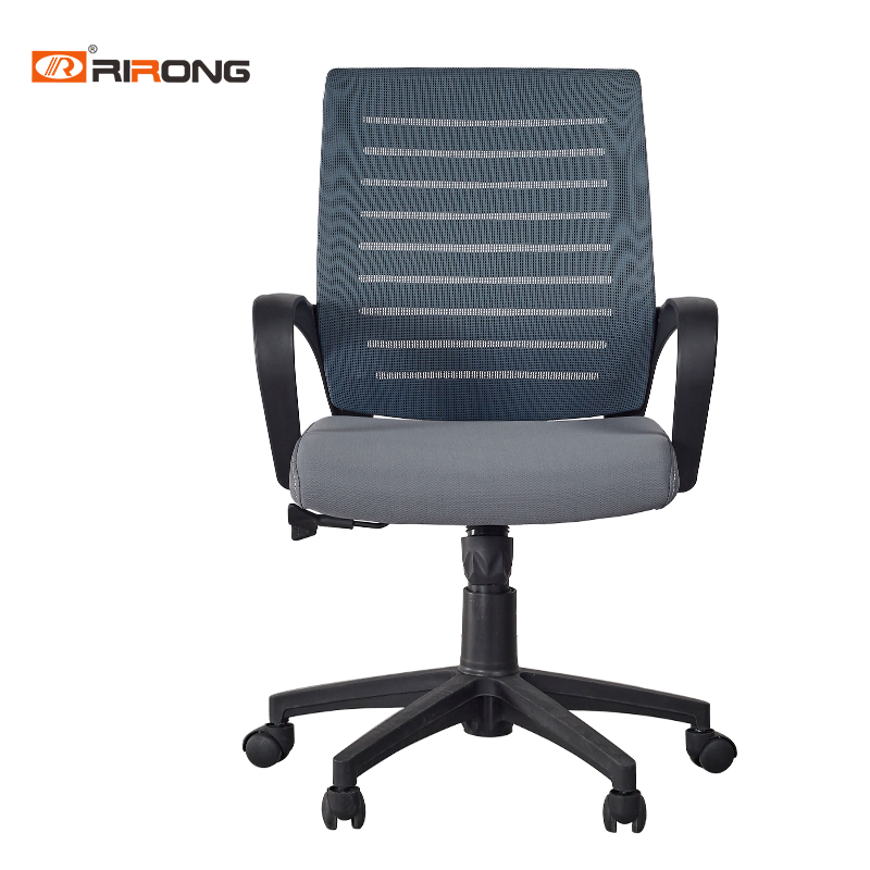 High Density Colorful Middle Office Home Study Staff Woker Green Blue Nylon Mesh Lift Chair With Armrest