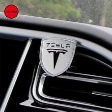 Salida de Aire del coche Clip de Perfume Sólido Ambientador con Logo para Tesla Tesla Model S Modelo X Accesorios Interiores