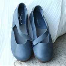 Genuine leather handmade women shoes vintage women's flats casual shoes low heels comfortable shoes 118-3