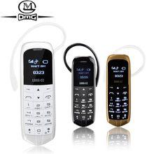 Novo pequeno mini telefone sem câmera bluetooth fone de ouvido botão telefone barato telefones celulares desbloqueado gsm j8