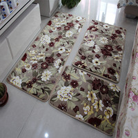 3 Pcs Bathroom Mat Set Anti Slip Bath Rug Stone Carpets Cartoon Bath Mats And Toilet