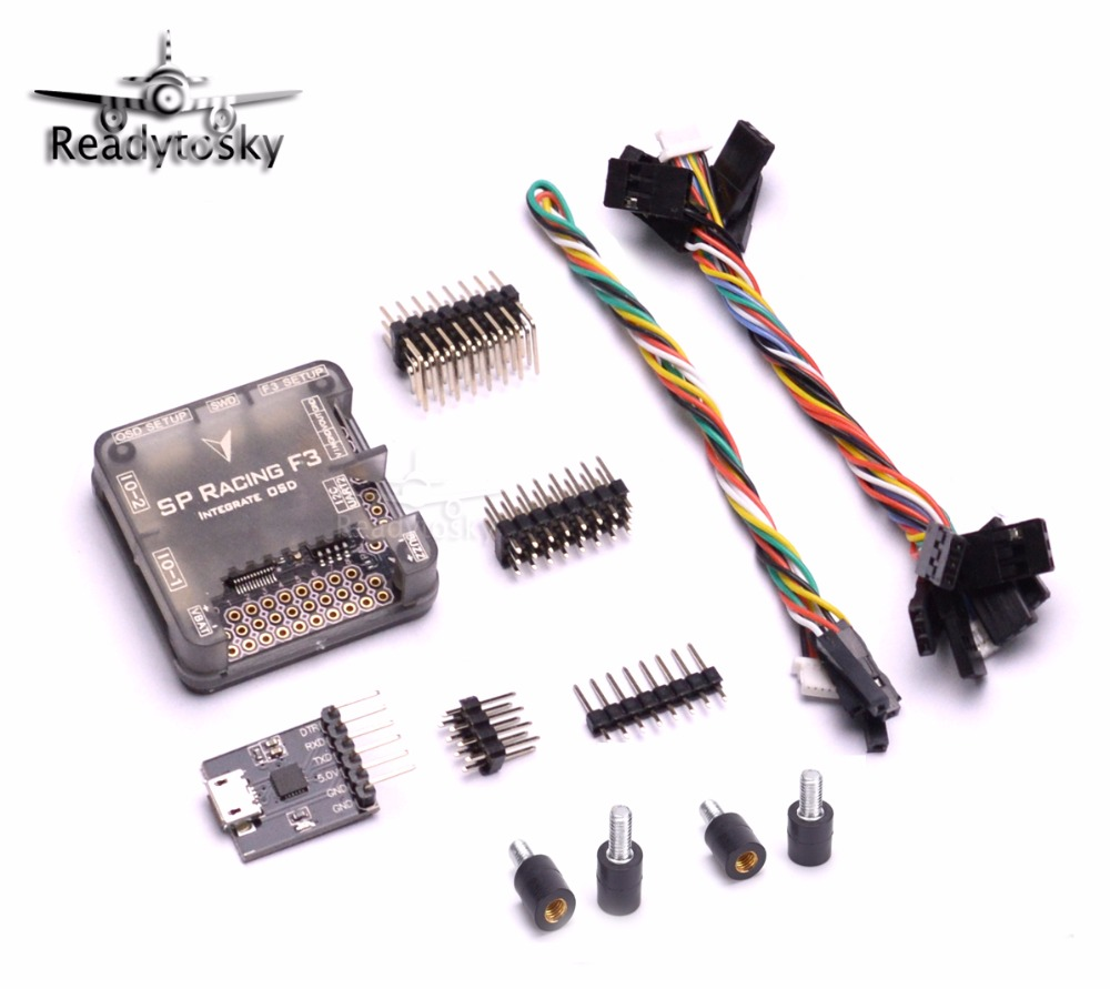 PRO SP Racing F3 Flight Controller Integrate OSD with Protective Case Mini 250 210 Quadcopter Drone micro minimosd minim osd mini osd w kv team mod for racing f3 naze32 flight controller