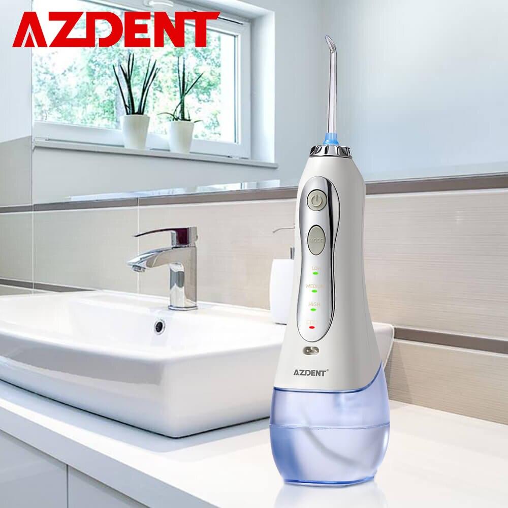 Nova 3 Modos Sem Fio Dental Flosser Água Irrigador Oral Portátil USB Recarregável Jato de Água Dente Fio Dental Pick 5 Jet Dicas 300ml