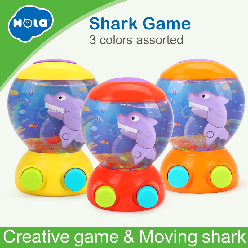 HUILE TOYS 3110 Baby Bath Toys Water Toys Shark Fish Hunt Toy Kids Bathroom Game Play Set Early Educational Toys for Children sermoido sea life animals turtle toys set turtles figurines walrus plastic shark fish model kids toy educational zoo figure a154