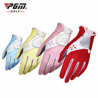 new 1pair PGM Golf Gloves Women Lambskin Breathable Non slip Left Right Hand Gloves Sport Golf Outdoor Accessories
