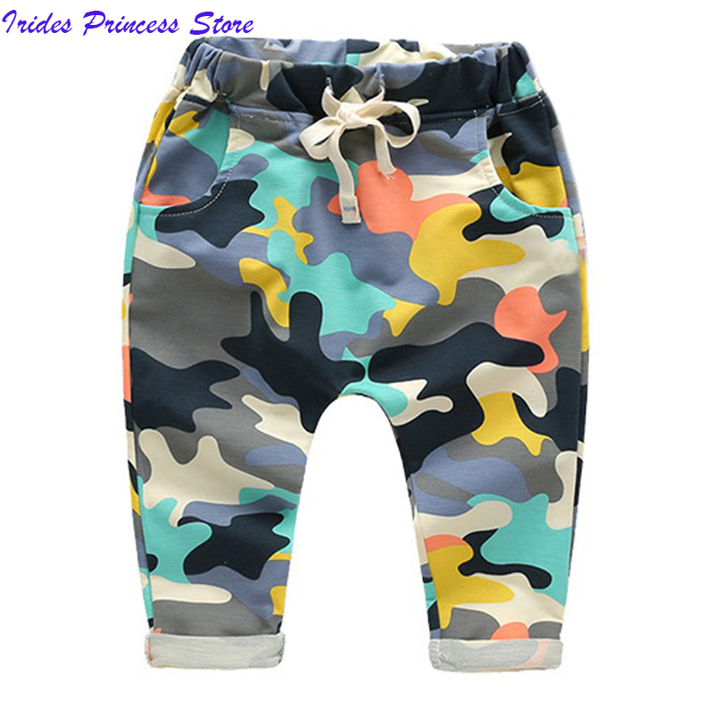 Boys Splash Pants Cotton Children Trousers Toddler Kids Harem Pants with Drawstring 2017 Fashion Style drawstring spliced camo jogger pants